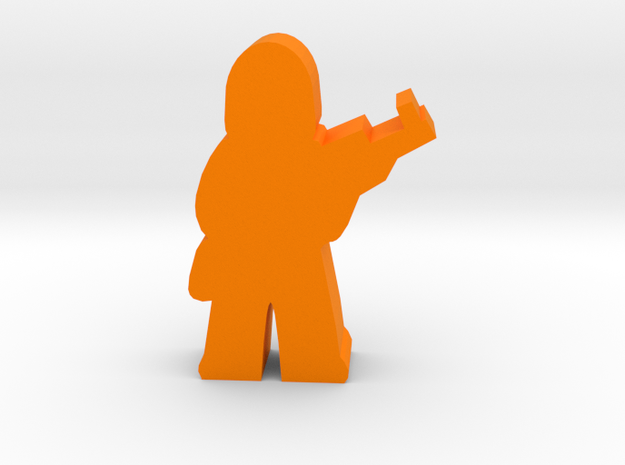 Game Piece, Hairy Alien Outlaw in Orange Processed Versatile Plastic
