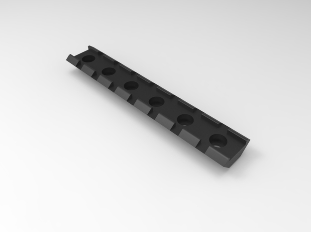 20mm Rail 115mm in Black Natural Versatile Plastic
