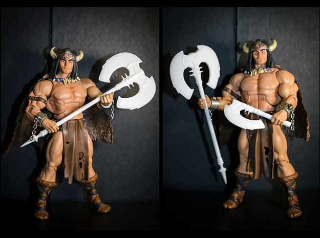 ACC-03-Axes 7inch MOTU v2.3 3d printed White Strong and Flexible Polished material.