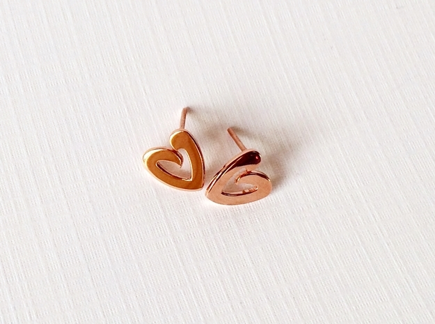 Heart Studs - small heart post earrings