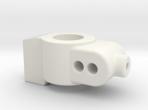 0 DEGREE - CUSTOM WORKS DO REAR HUB CARRIER in White Natural Versatile Plastic