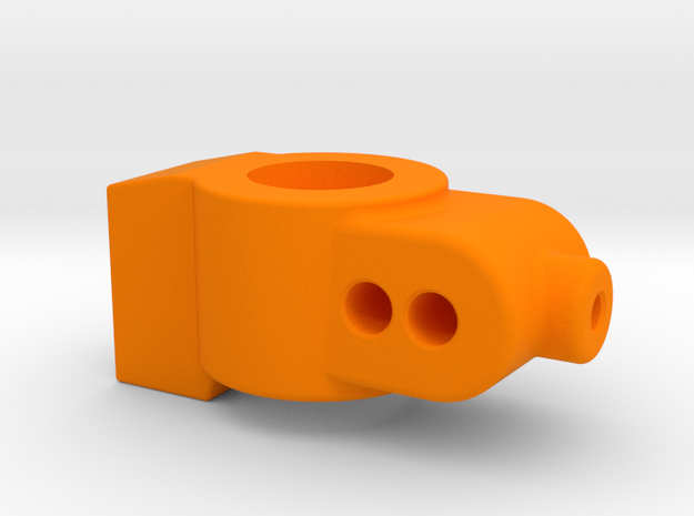 2 DEGREE - CUSTOM WORKS DO REAR HUB CARRIER in Orange Processed Versatile Plastic