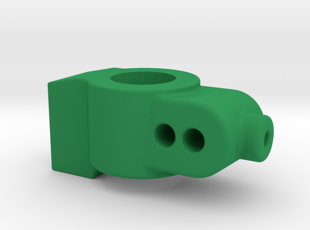 4 DEGREE - CUSTOM WORKS DO REAR HUB CARRIER in Green Processed Versatile Plastic