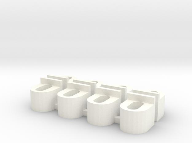 Body Support V1 in White Processed Versatile Plastic