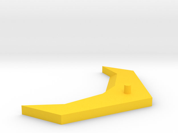 Wing Upgrade with 4mm Peg in Yellow Processed Versatile Plastic