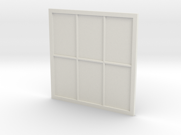 1:24 Scale Colonial Style Window 5' x 5' in White Natural Versatile Plastic