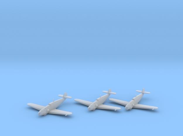 Messerschmitt Bf-109 G-2 'Gustav' 1:200 x3 FUD in Smooth Fine Detail Plastic: 1:200