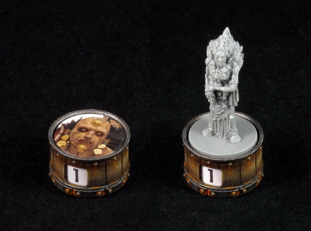 Point counter/miniature base (rotating)