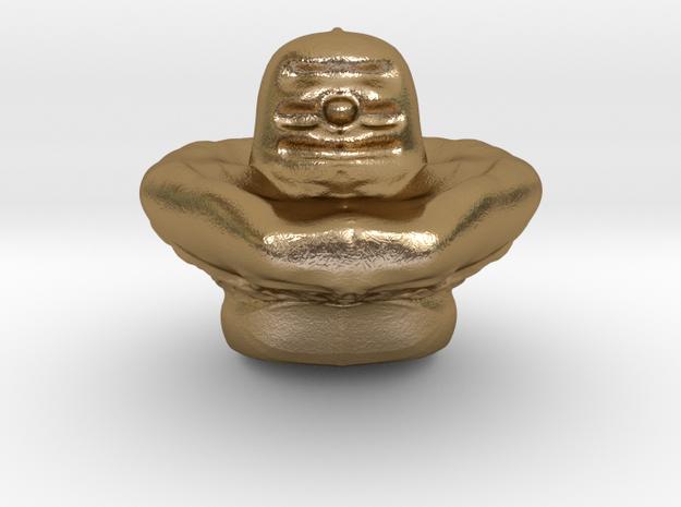 Shiva Lingam Sculptris Large in Polished Gold Steel