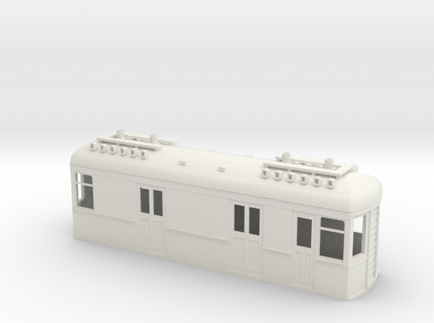 On30 Gas Electric Boxcab in White Strong & Flexible