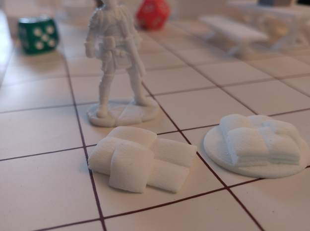 Tabletop: Flour Sack Stack in White Strong & Flexible