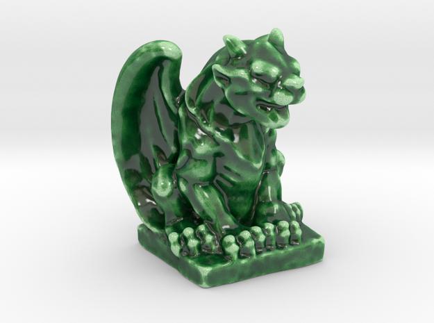 Dragon Like Gargoyle  in Gloss Oribe Green Porcelain