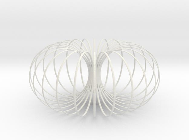 Torus Chandelier Pendant lamp 40cm in White Natural Versatile Plastic