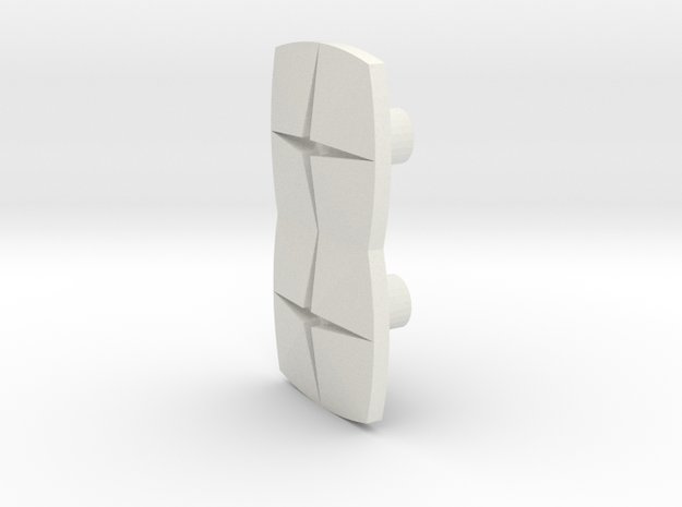 Tile2 (Handle/Pull) in White Natural Versatile Plastic