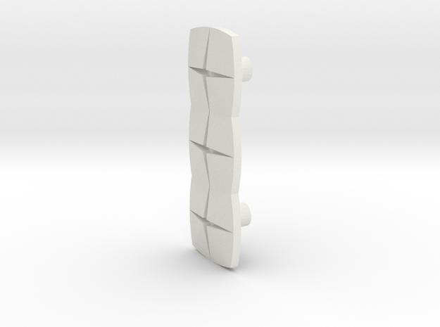 Tile3 (Handle/Pull) in White Natural Versatile Plastic