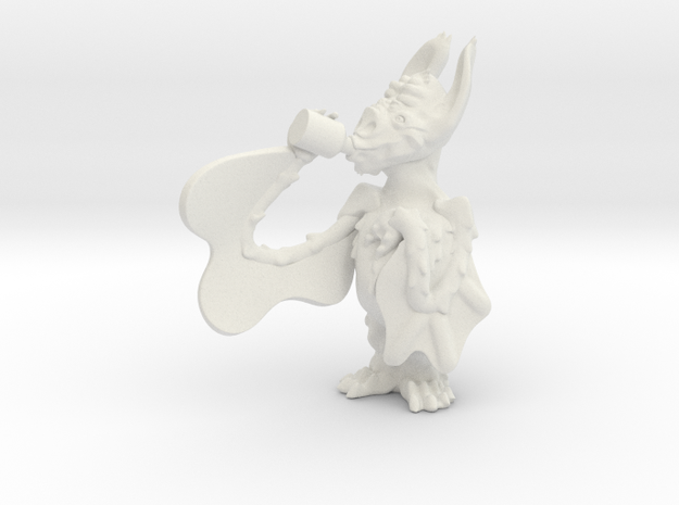 Chug. The Bat in White Strong & Flexible: Small
