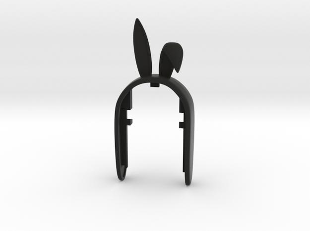 KEYFOB Bunny in Black Natural Versatile Plastic