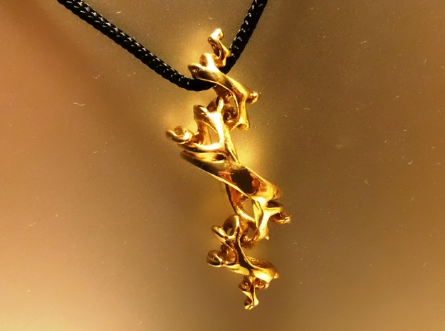 Julia Pendant 3d printed Gold Plated