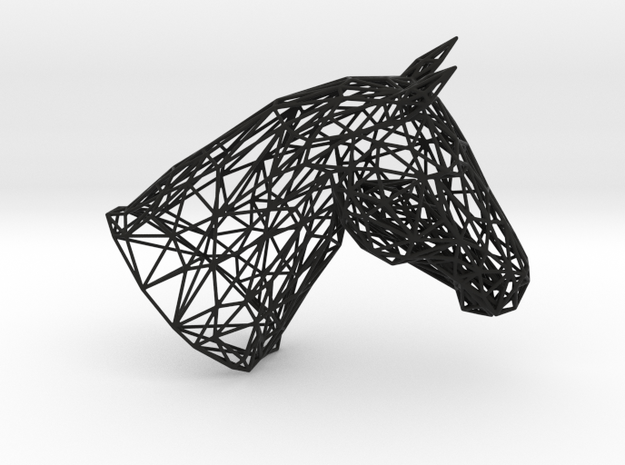 Horse head wire-model in Black Natural Versatile Plastic