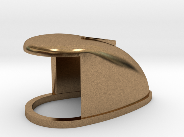 B15F Bow Lamp Housing, Brass or Plastic in Raw Brass