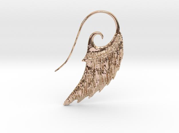 Wing Ear Hanger  in 14k Rose Gold Plated Brass