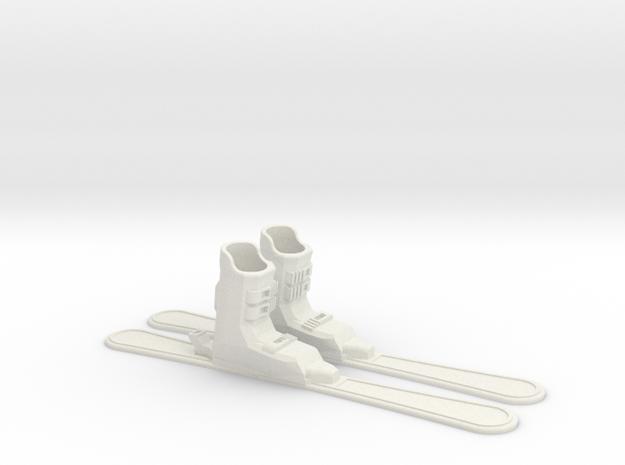Finger Skis in White Strong & Flexible
