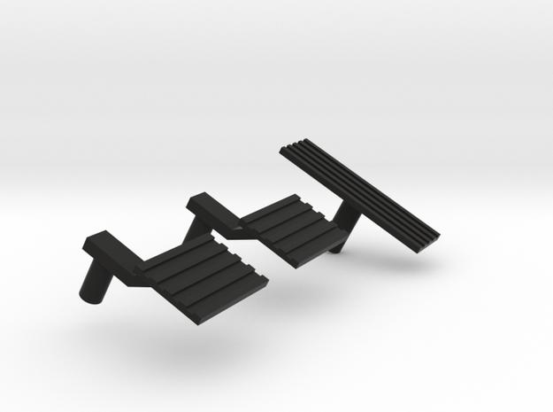 1:6 scale Hasbro HMMWV Gas-brake-clutch in Black Natural Versatile Plastic