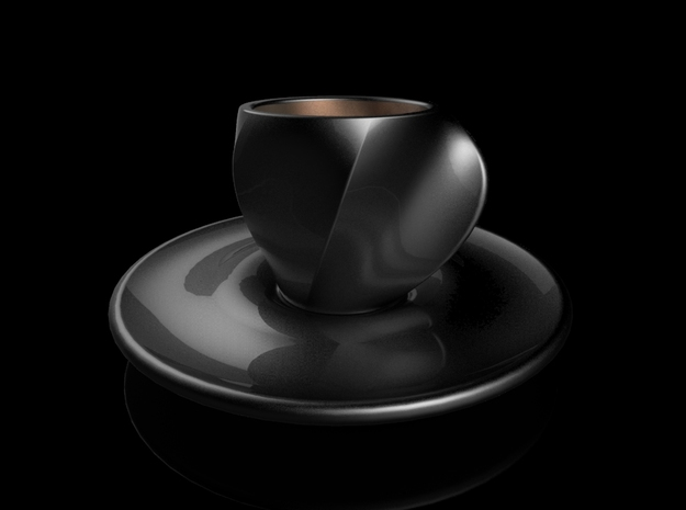 Flow Series Saucer 3d printed Cup and Saucer