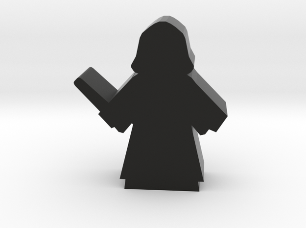 Game Piece, Dark Wizard in Black Natural Versatile Plastic