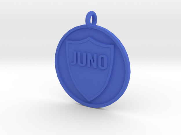 Juno's Pet Tag in Blue Strong & Flexible Polished