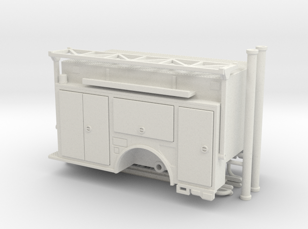 1-64 KME Camden engine body w/ ladder rack v2 in White Strong & Flexible