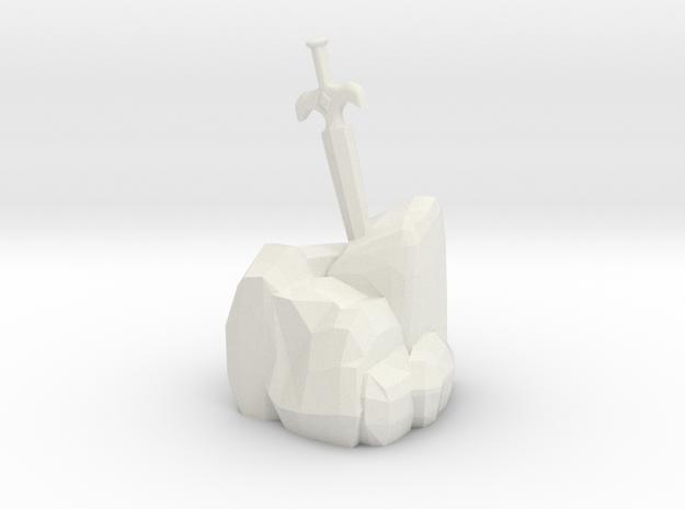 Sword In The Stone in White Natural Versatile Plastic