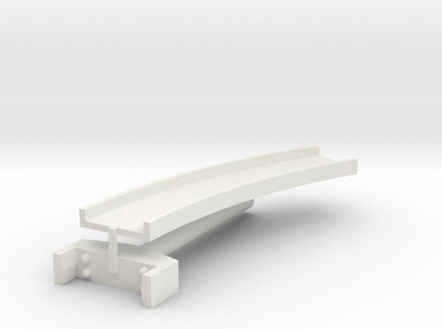 T-gauge curved bridge 145 mm in White Natural Versatile Plastic