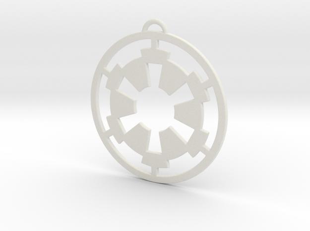 Imperial Pendant in White Natural Versatile Plastic