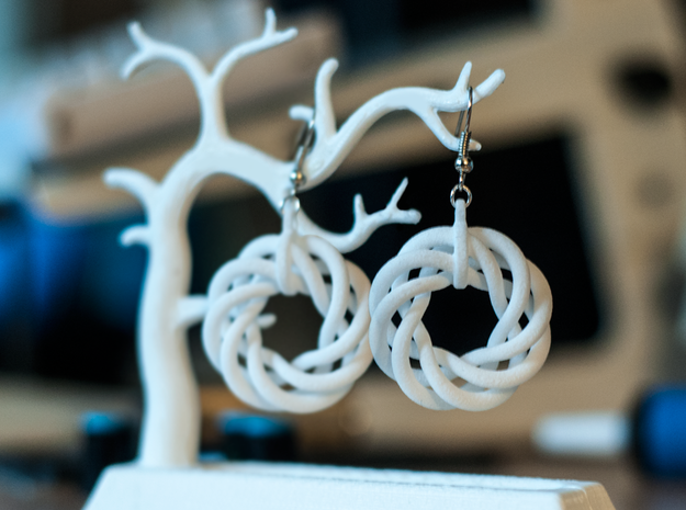 Torus Flower Earrings