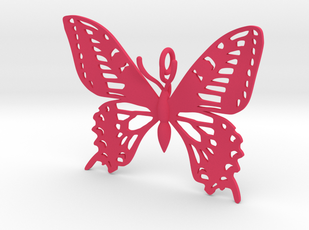 Butterfly Pendant vs 02 in Pink Strong & Flexible Polished