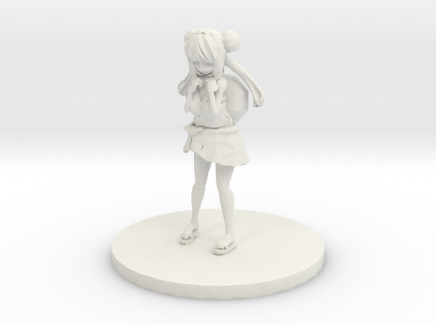 Anime Figurine inspired by Bulbasaur in White Strong & Flexible: Small