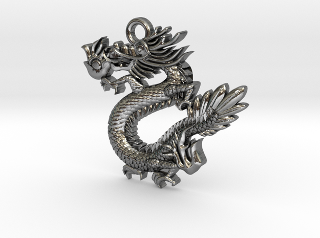 Dragon in Polished Silver