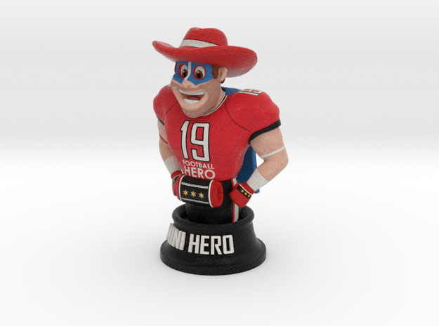 Mini football hero - version red in Full Color Sandstone