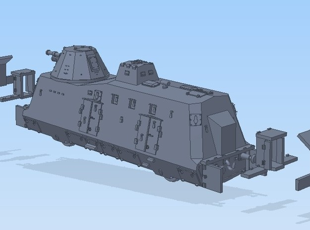 N 1-160 G-Wagen Armored Train BP-42 3d printed
