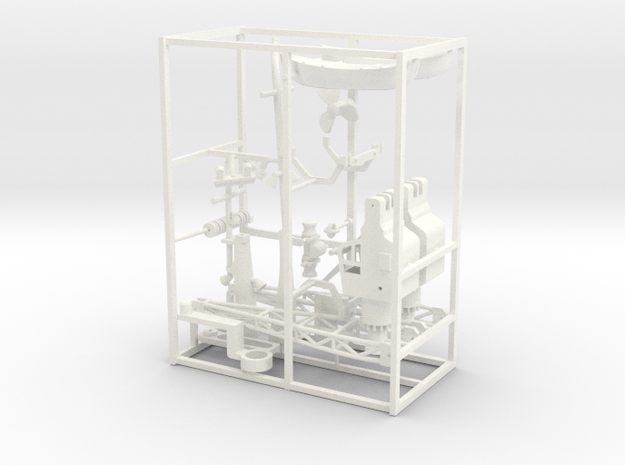 Coaster 840, Details (1:160 scale) in White Strong & Flexible Polished