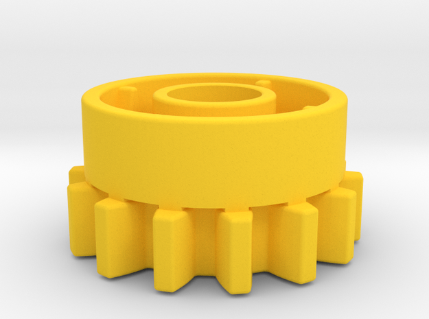 14 teeth clutch Technic in Yellow Processed Versatile Plastic