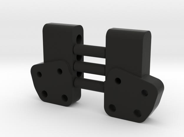 Leaf Chassis Servo Mount Bracket Pair in Black Natural Versatile Plastic