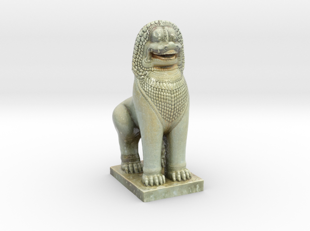 Guardian Lion  in Glossy Full Color Sandstone