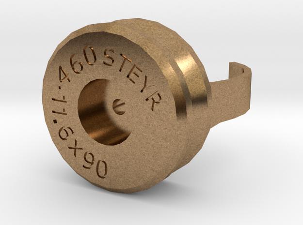 .460 Steyr case ring in Natural Brass