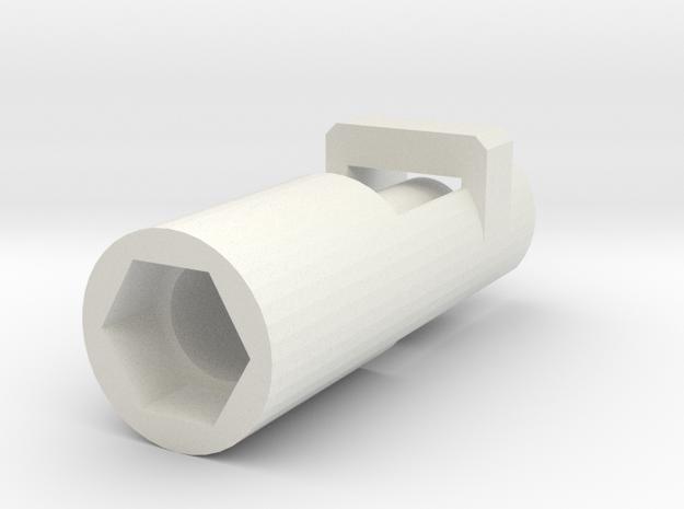 Heimeier radiator valve servo mount arduino  in White Strong & Flexible