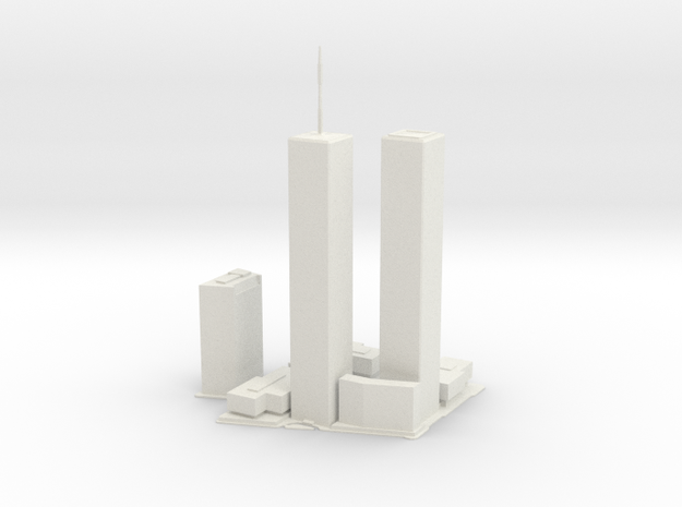 Original World Trade Center for 3D printing in White Strong & Flexible: Large