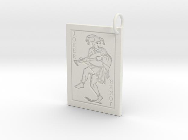 Joker Keychain/Pendant in White Natural Versatile Plastic