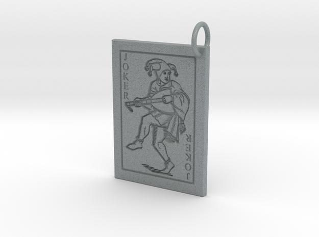 Joker Keychain/Pendant in Polished Metallic Plastic