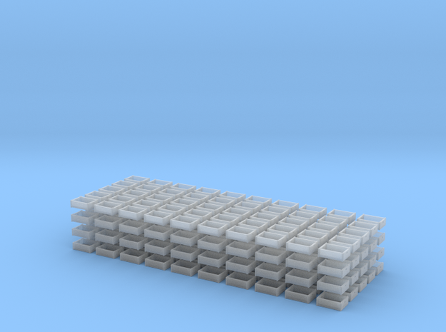 Crates 1-87 24eabottle 200easet in Smooth Fine Detail Plastic